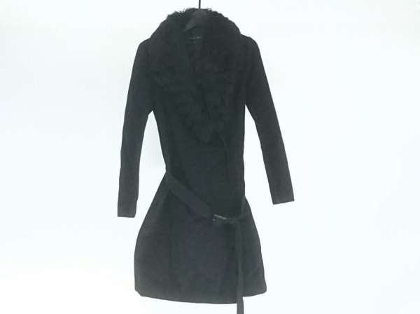Le souk(ルスーク) コート サイズ36 S レディース 黒 ファー/冬物