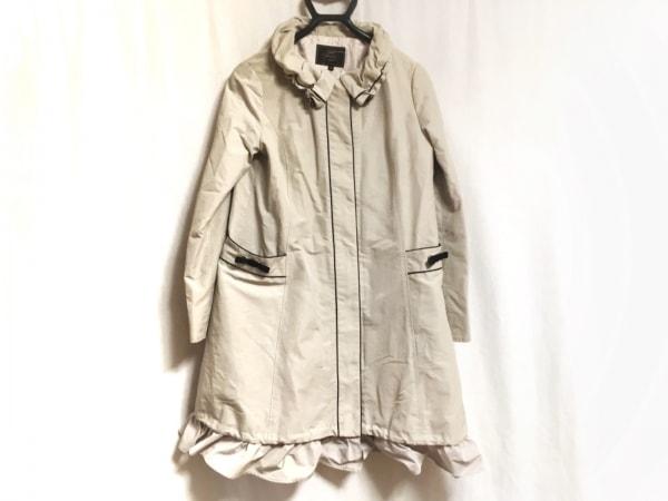 TOCCA(トッカ) コート サイズ4 S レディース ベージュ×黒 春・秋物/リボン/フリル