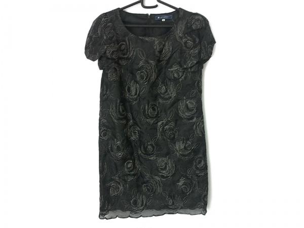 エムズグレイシー ワンピース サイズ38 M レディース美品  黒×グレー 刺繍/フラワー