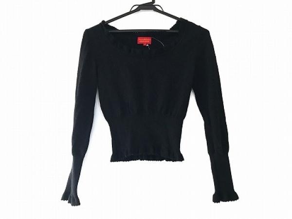 ヴィヴィアンウエストウッドレッドレーベル 長袖セーター サイズ2 M レディース 黒
