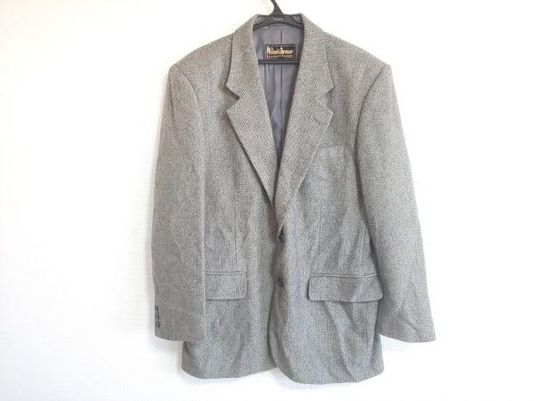 ウィンドアーマー ジャケット サイズM メンズ美品  黒×ベージュ カシミヤ/肩パッド