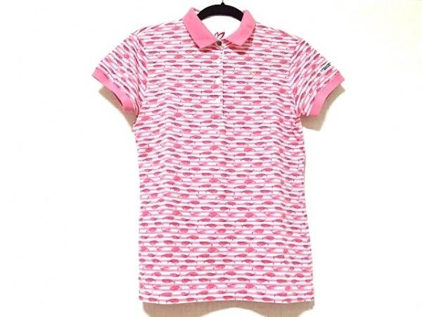 マスターバニーエディション 半袖ポロシャツ サイズ1 S レディース美品  白×ピンク