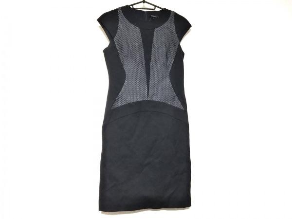 BERARDI(ベラルディ) ワンピース サイズ2 M レディース 黒×ダークネイビー×白 刺繍
