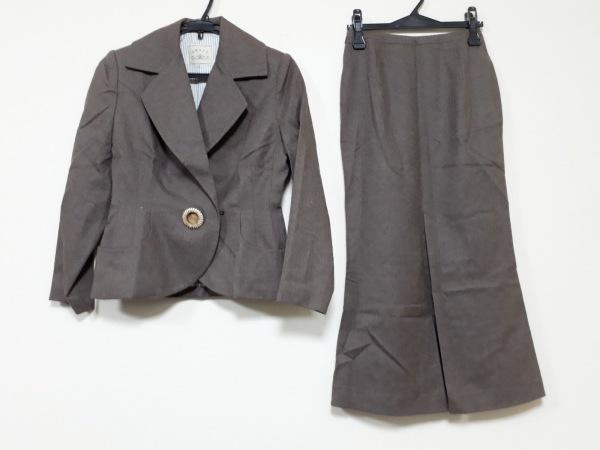 GRACE(グレース) スカートスーツ レディース ダークブラウン 肩パッド