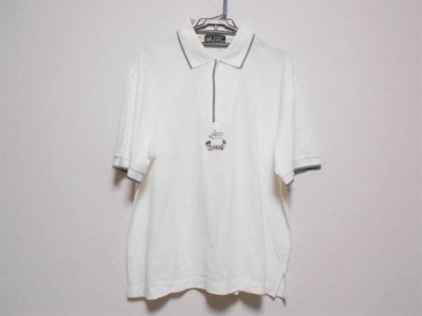 ミエコウエサコ 半袖ポロシャツ サイズ52 メンズ 白×グレー JUMBO OZAKI