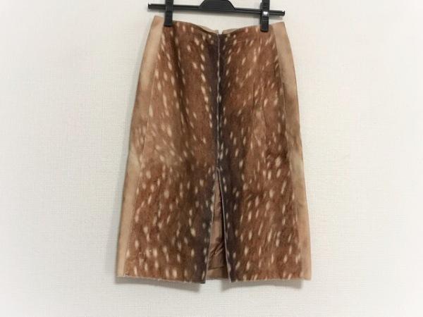 カルヴェン スカート サイズ36 S レディース美品  ブラウン×ダークブラウン 鹿模様