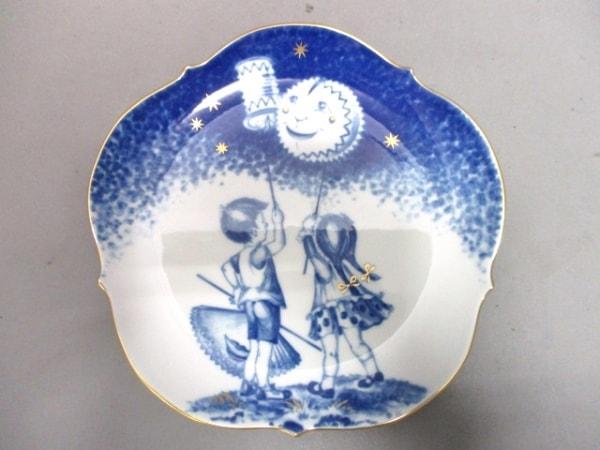 マイセン プレート新品同様  白×ブルー×ゴールド 1999メモリアルプレート 陶器
