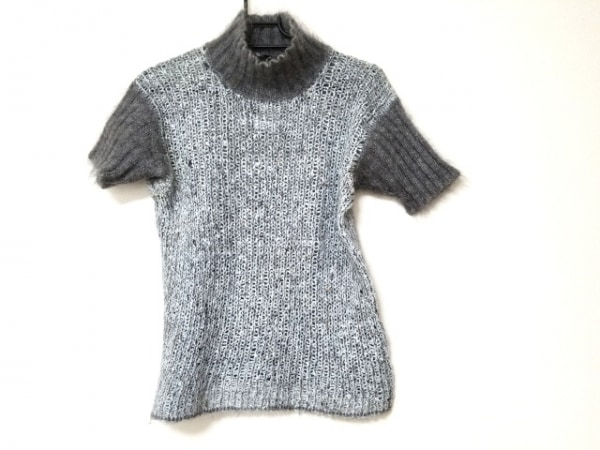 CIVIDINI(チヴィディーニ) 半袖セーター サイズ42 M レディース ライトグレー×グレー
