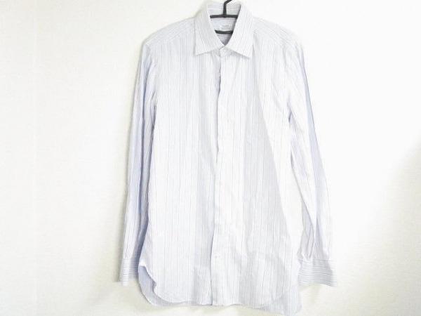 BARBA(バルバ) 長袖シャツ サイズ40 M メンズ ブルー×白×パープル