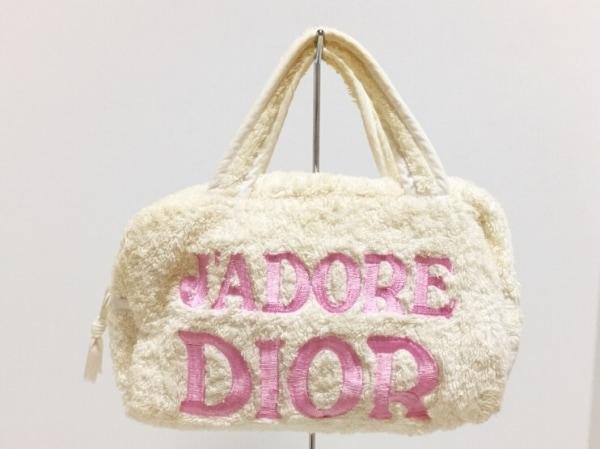 ChristianDior(クリスチャンディオール) ハンドバッグ - 白 J'ADORE DIOR パイル