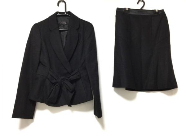 chereaux(シェロー) スカートスーツ サイズ38 M レディース 黒 リボン
