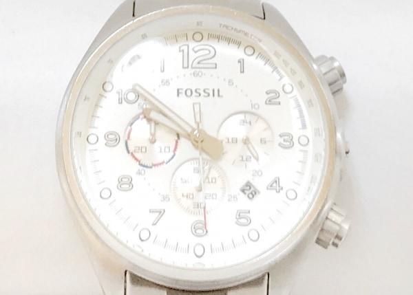 FOSSIL(フォッシル) 腕時計 CH-2696 メンズ クロノグラフ アイボリー