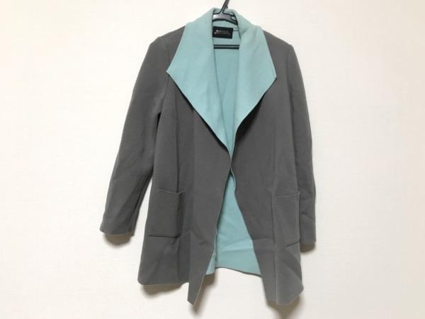 マダムジョコンダ コート サイズ38 M レディース美品  グレー×ライトブルー