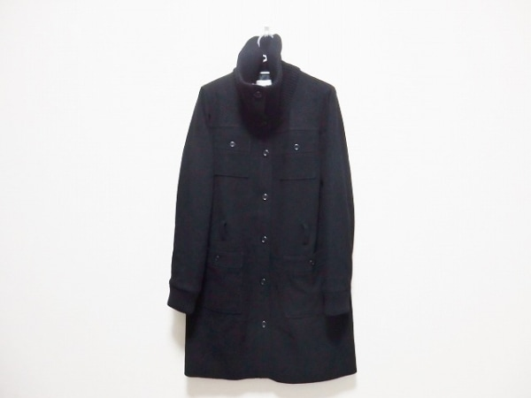 LEONARD(レオナール) コート サイズ40 M レディース 黒×マルチ SPORT/冬物