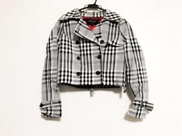DENNY ROSE(デニーローズ) トレンチコート サイズS レディース美品  グレー×黒×白