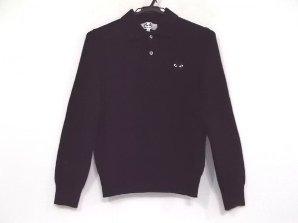 プレイコムデギャルソン 長袖セーター サイズS レディース 黒 ハート/AD2007