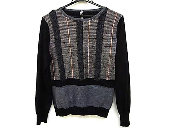 アンティパスト 長袖セーター サイズ2 M レディース 黒×ダークグレー×マルチ