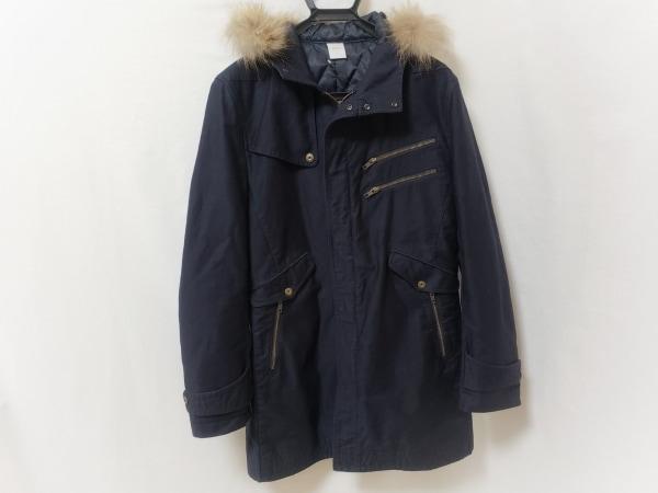 abx(エービーエックス) コート サイズ4 XL メンズ ネイビー ファー/冬物