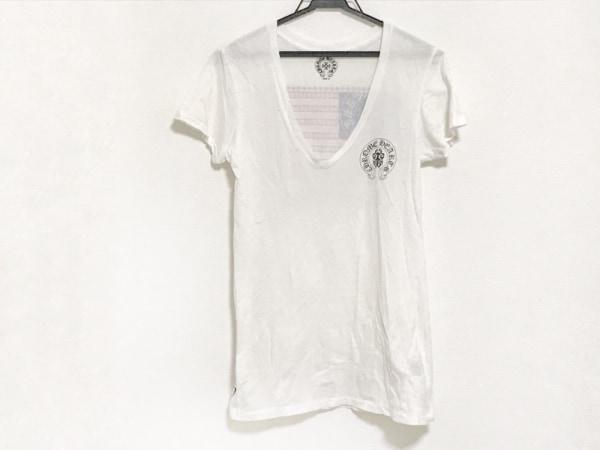 Chrome hearts(クロムハーツ) 半袖Tシャツ サイズS レディース アイボリー×黒