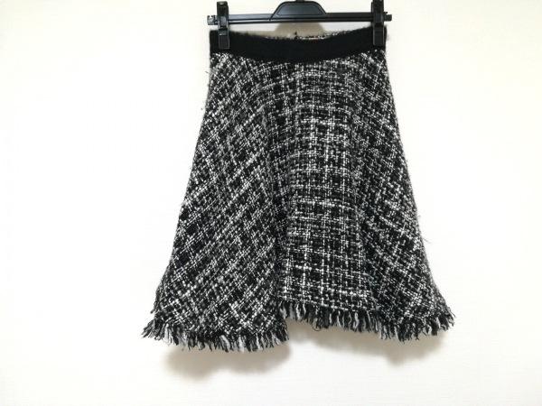 MSGM(エムエスジィエム) スカート サイズ40 M レディース 黒×白×グレー