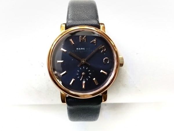 マークジェイコブス 腕時計美品  MBM1331 レディース 革ベルト ダークネイビー
