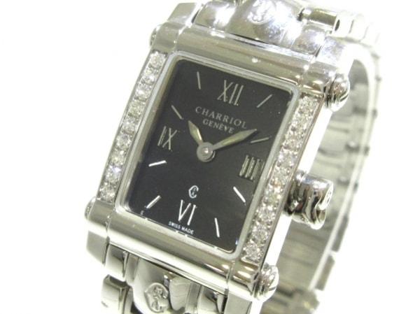 フィリップシャリオール 腕時計美品  コロンブス 9012911 レディース 黒