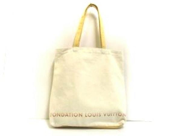 LOUIS VUITTON(ルイヴィトン) トートバッグ - 白×ベージュ キャンバス