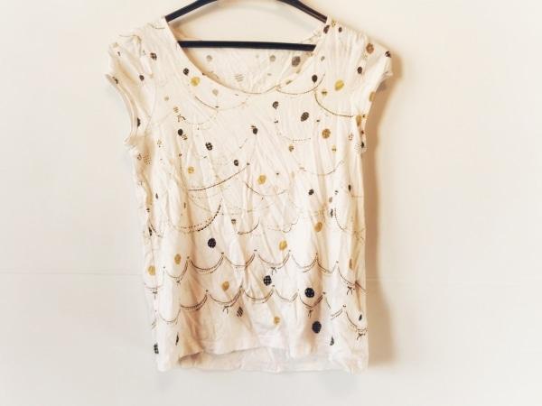 franchelippee(フランシュリッペ) 半袖Tシャツ サイズM レディース 黒×マルチ