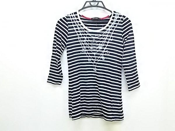ラブレス 七分袖Tシャツ サイズ36 S レディース ダークネイビー×白×ライトグレー