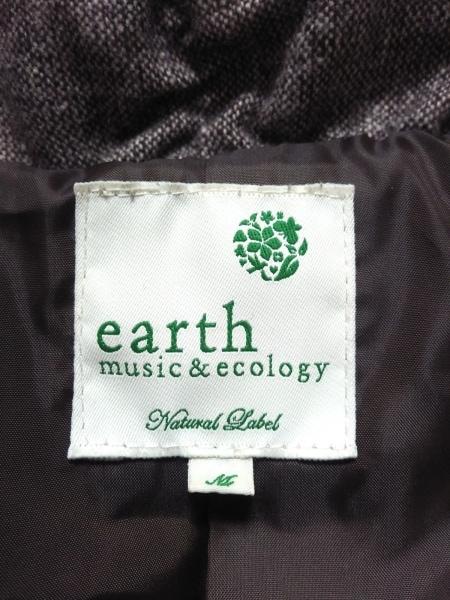 アースミュージック&エコロジー ブルゾン サイズM レディース ダークブラウン 冬物