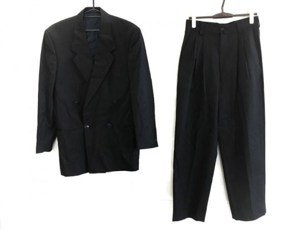 istante(イスタンテ) ダブルスーツ サイズF メンズ 黒×ダークネイビー×ネイビー
