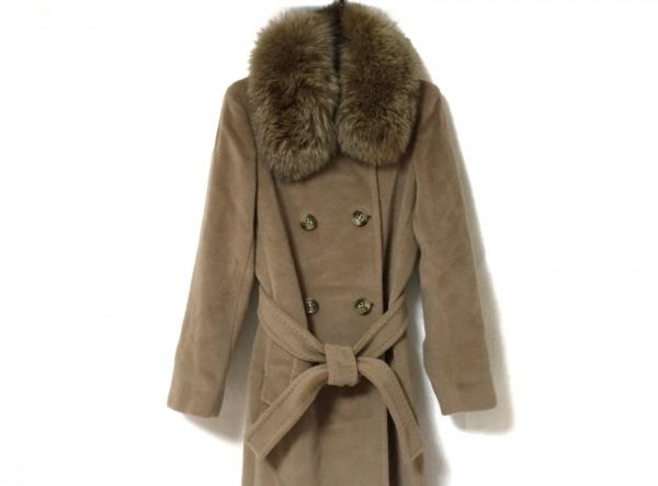 MARELLA(マレーラ) コート サイズ40 M レディース美品  ベージュ ファー/冬物