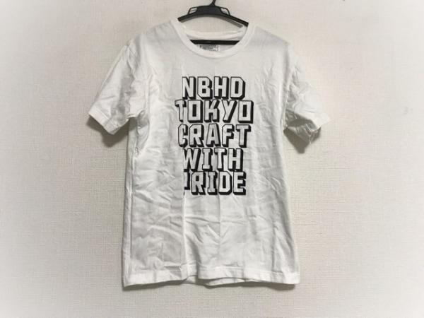 NEIGHBORHOOD(ネイバーフッド) 半袖Tシャツ サイズS メンズ美品  白×黒