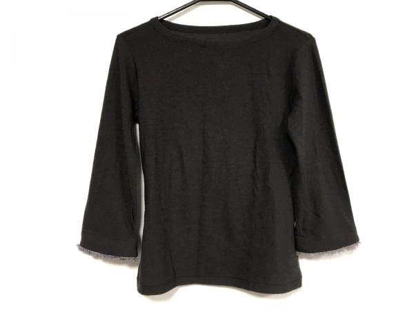 ヨウジヤマモト 七分袖セーター サイズ3 L レディース美品  ダークブラウン×パープル