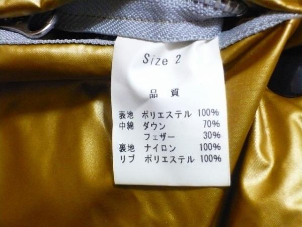ガルシアマルケス ダウンコート サイズ2 M レディース 黒×ゴールド PAX/冬物