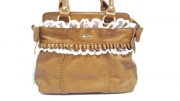 LIZLISA(リズリサ) ショルダーバッグ美品  ブラウン フリル 合皮