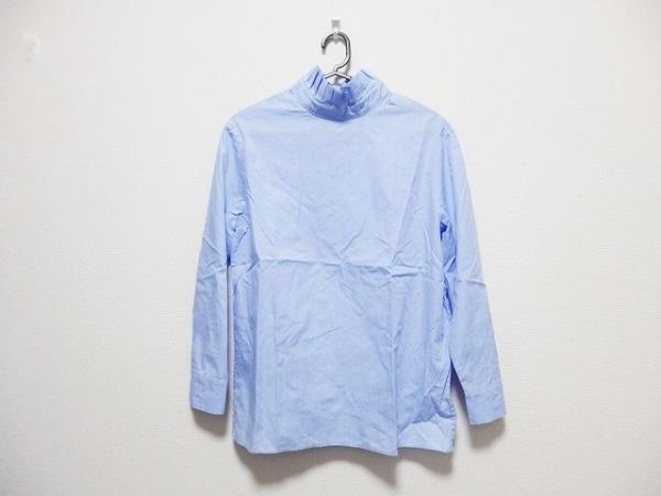 TELA(テラ) 長袖カットソー サイズ40 M レディース ブルー×白 チェック柄