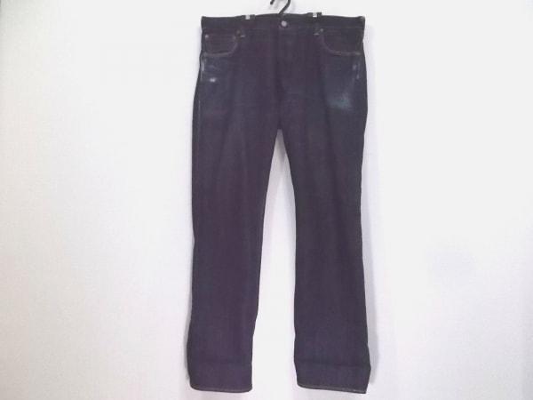 エヴィス ジーンズ サイズ33 メンズ美品  ネイビー YAMANE/ダメージ加工/ボタンフライ