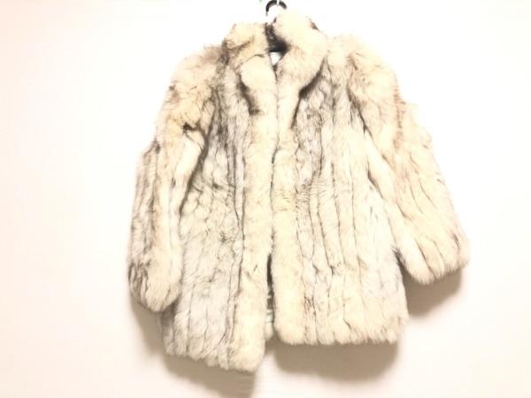 SAGA FOX(サガフォックス) コート サイズ13 L レディース アイボリー×ダークブラウン