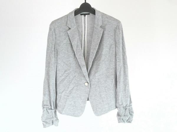 ICB(アイシービー) ジャケット サイズ40 M レディース美品  ライトグレー