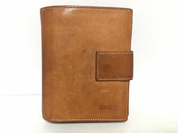 BREE(ブリー) Wホック財布 ブラウン レザー