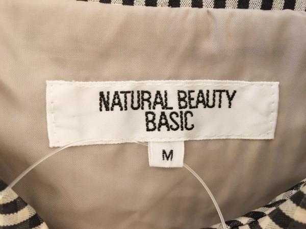 ナチュラルビューティー ベーシック コート サイズM レディース 黒×白