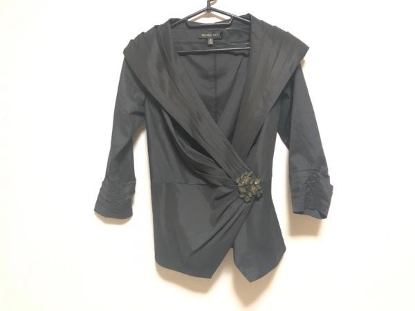 TADASHISHOJI(タダシショージ) ジャケット サイズ4 XL レディース 黒 ラインストーン