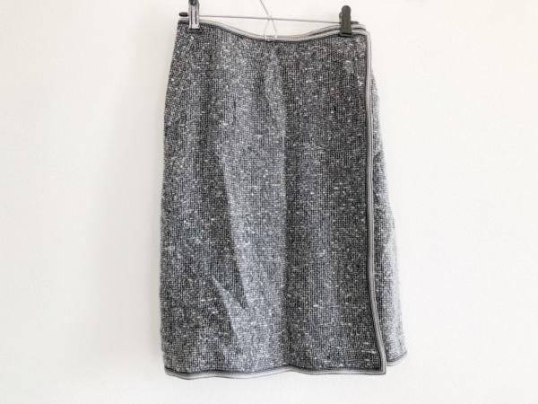 RENA LANGE(レナランゲ) 巻きスカート レディース 黒×アイボリー