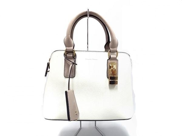 Samantha Thavasa(サマンサタバサ) ハンドバッグ美品  白×グレーベージュ 合皮