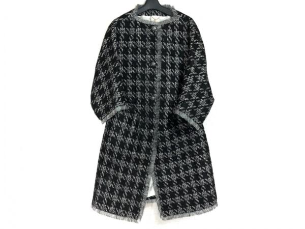 CLEAN2(クリーン) コート サイズ38 M レディース 黒×グレー×白 冬物