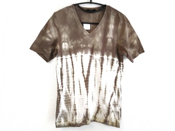 SHELLAC(シェラック) 半袖Tシャツ サイズ46 XL レディース ダークブラウン×白