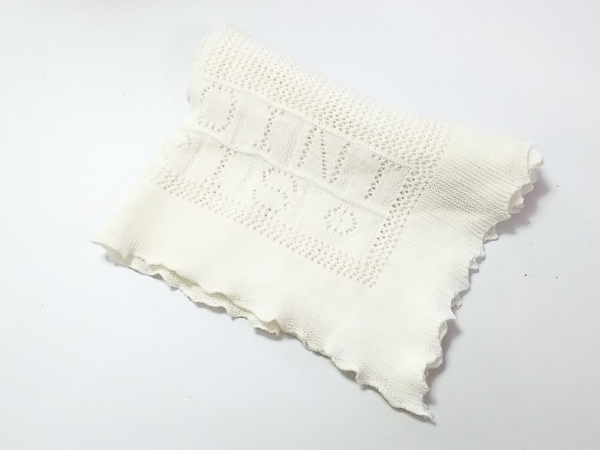 Bonpoint(ボンポワン) マフラー美品  アイボリー ウール×コットン