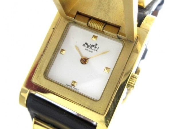 HERMES(エルメス) 腕時計 メドール - レディース 革ベルト/〇W 白