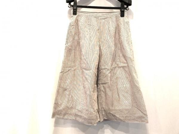HIROKO BIS(ヒロコビス) パンツ サイズM レディース ブラウン×白 ストライプ